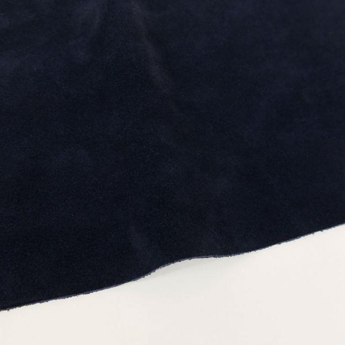 Coupon de croûte cuir uni - bleu nuit
