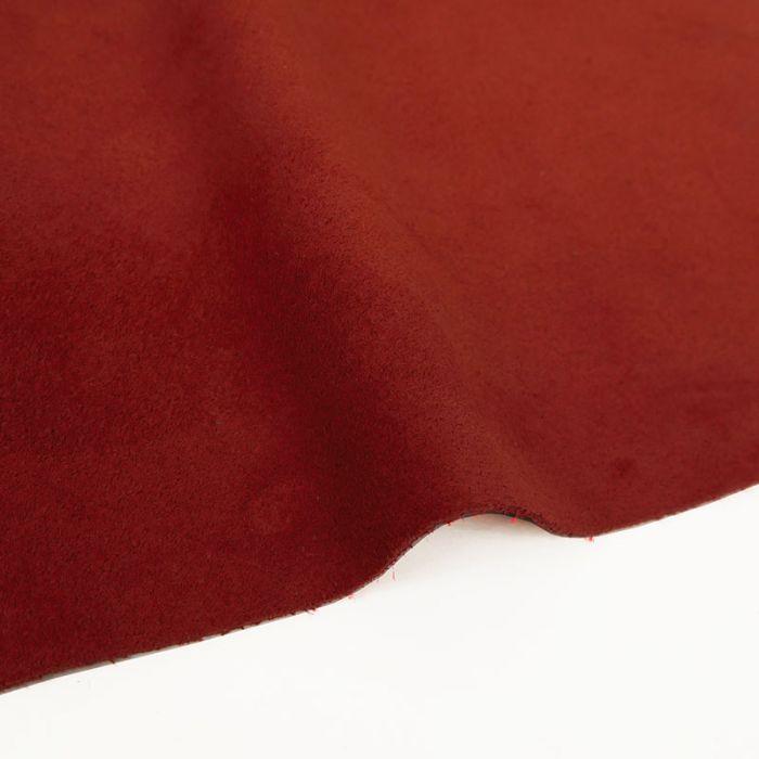 Coupon de croûte cuir uni - rouge carmin