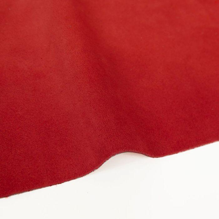 Coupon de croûte cuir uni - rouge corail