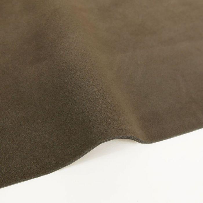 Coupon de croûte cuir uni - taupe