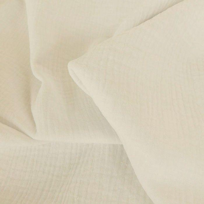 Tissu double gaze - crème x 10 cm