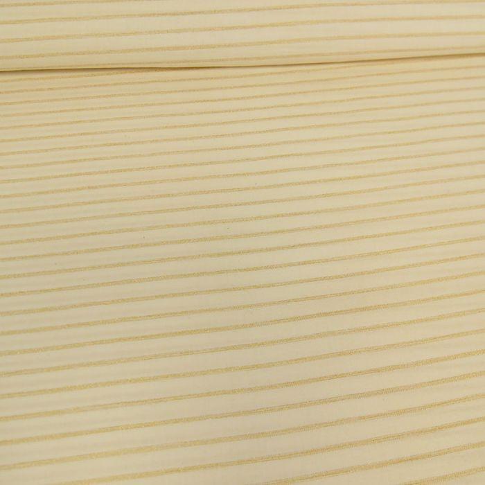 Tissu coton rayures lurex écru - France Duval Stalla x 10 cm