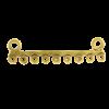Pendentif 2 attaches 9 accroches 48mm doré x1