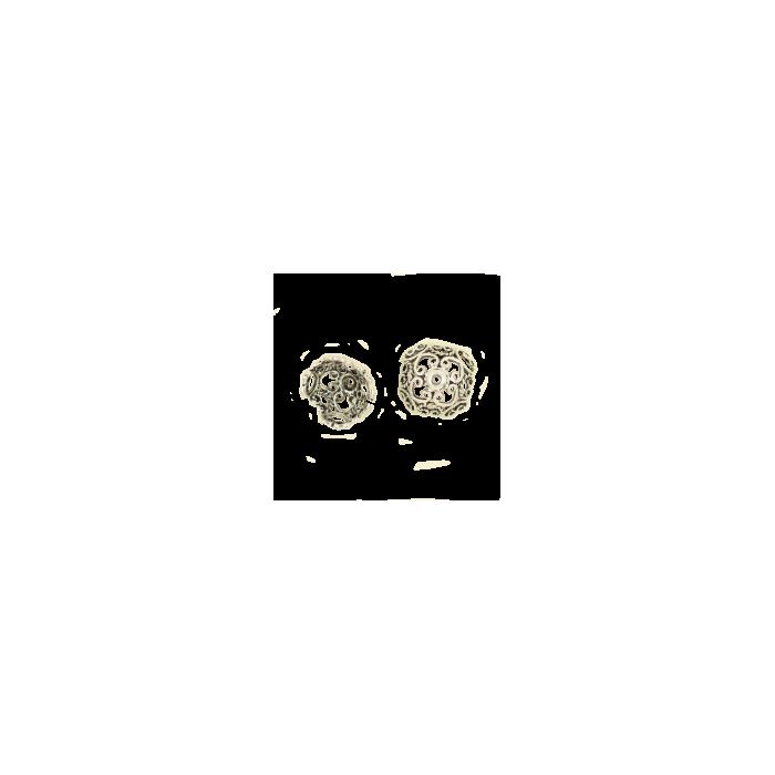 Pendentif calotte 9mm argent vieilli x1