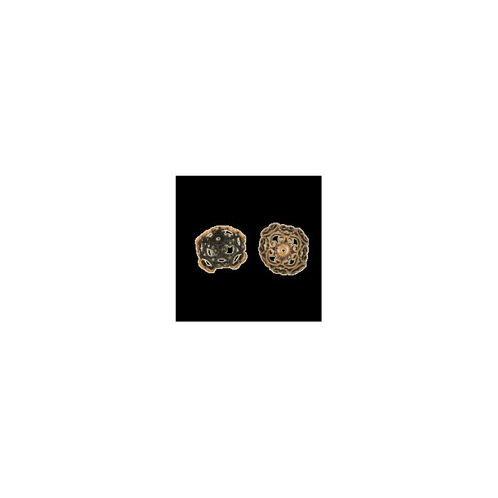 Pendentif calotte 9mm cuivre x1