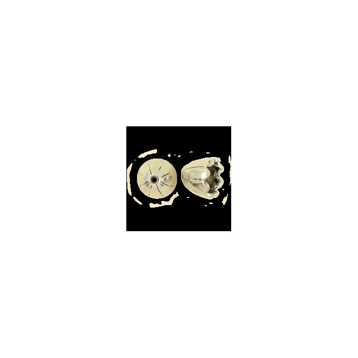 Pendentif calotte 15mm argent vieilli x1