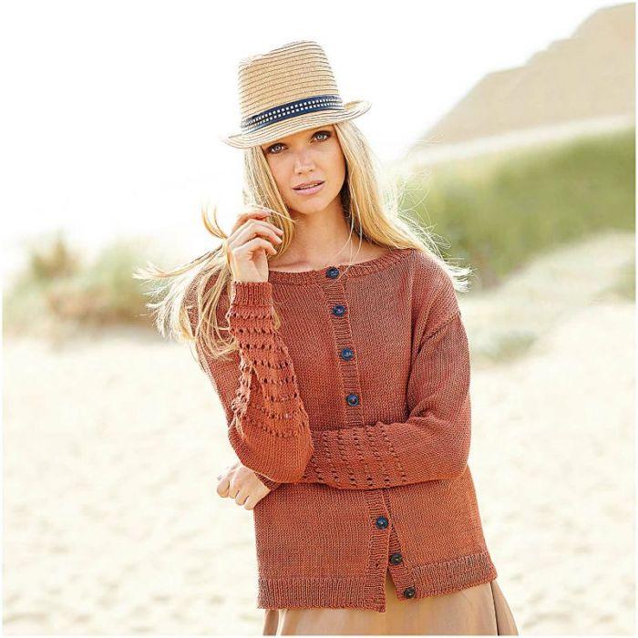 Kit tricot : pull étoile en coton - Rico design