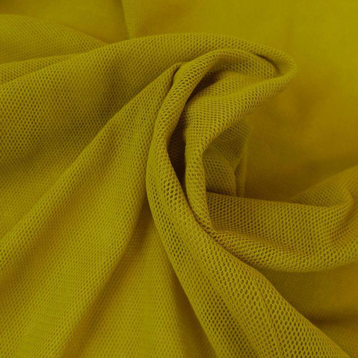 Tulle bio coton moutarde - C. Pauli x 10 cm