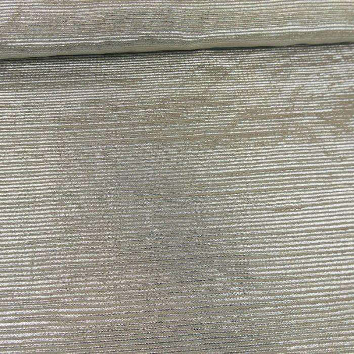 Tissu plissé - argent paillettes x 10 cm