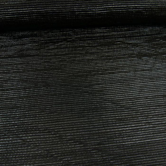 Tissu plissé - noir paillettes x 10 cm