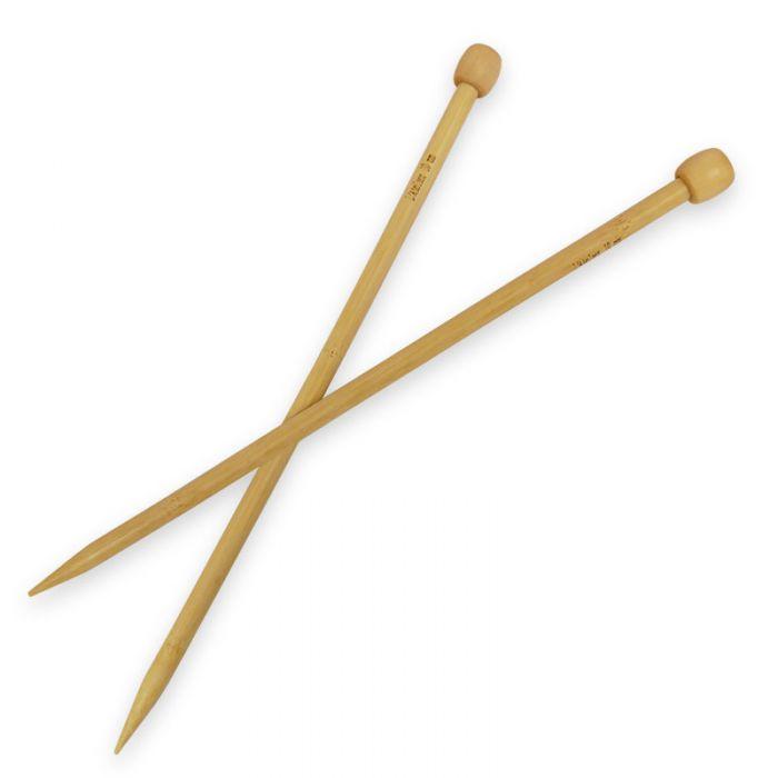 Aiguilles à tricoter droites en bambou 33 cm