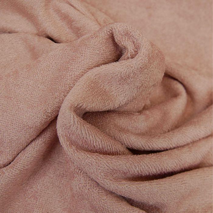 Tissu éponge bambou Oeko-Tex - rose x 10 cm