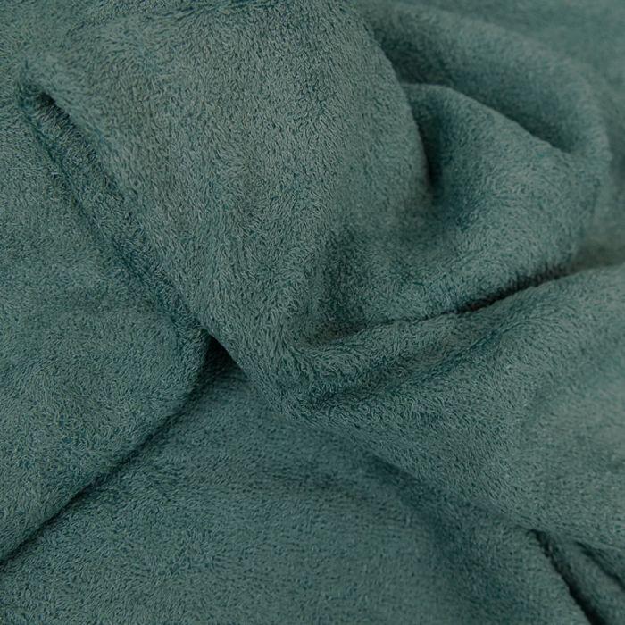Tissu éponge bambou Oeko-Tex - vert d'eau x 10 cm