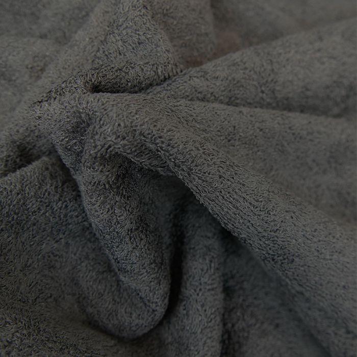 Tissu éponge bambou Oeko-Tex - gris foncé x 10 cm