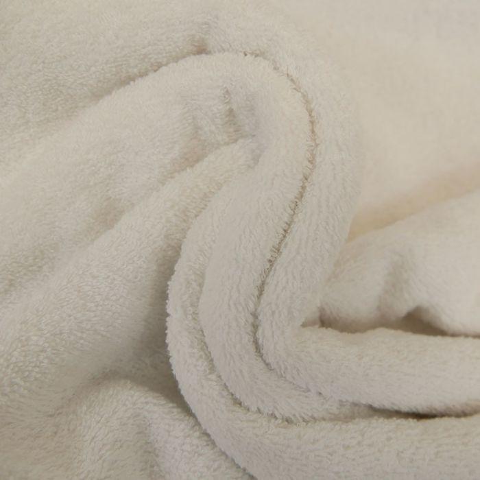 Tissu éponge blanc x 10 cm