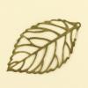 Pendentif filigrane feuille 44mm bronze x1