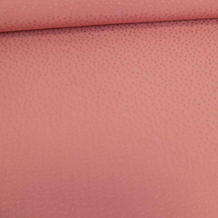 Tissu viscose pois - rose poudre x 10 cm
