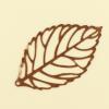 Pendentif filigrane feuille 44mm cuivre x1