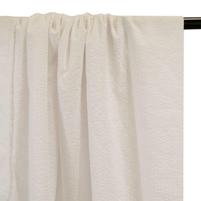 Tissu seersucker coton blanc - France Duval Stalla x 10 cm