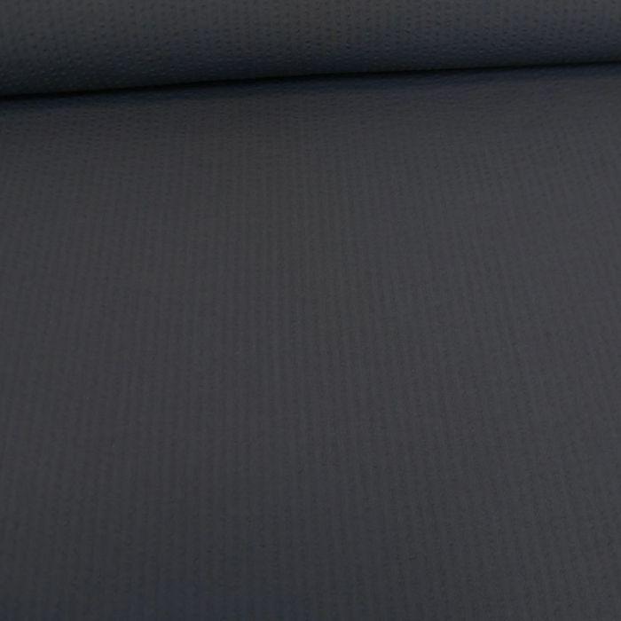Tissu seersucker coton encre - France Duval Stalla x 10 cm