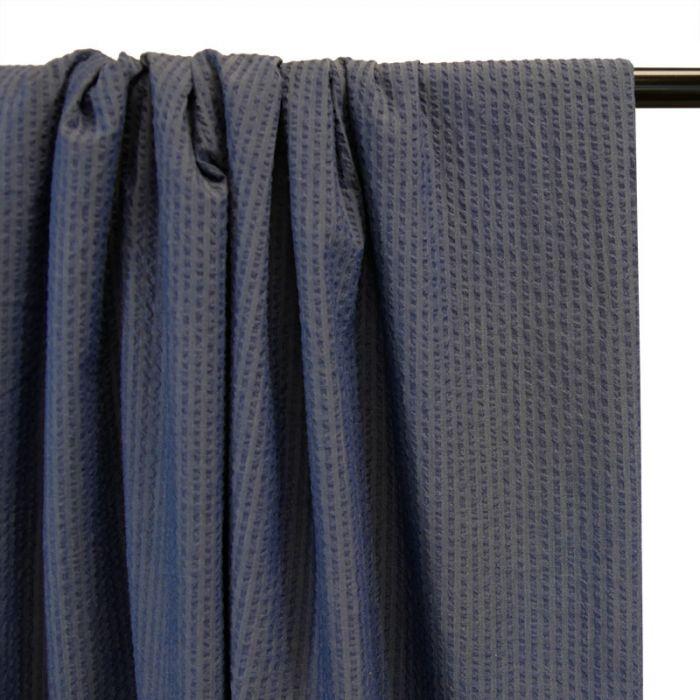 Tissu seersucker coton denim - France Duval Stalla x 10 cm