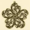 Pendentif fleur 55mm bronze x1