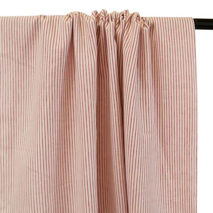 Tissu coton rayures rouge blanc - France Duval Stalla x 10 cm