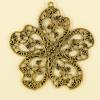 Pendentif fleur 55mm doré x1