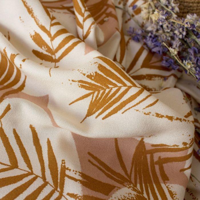 Tissu viscose Canopy ochre - Atelier Brunette x 10 cm