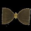 Pendentif résille noeud papillon 91mm bronze x1