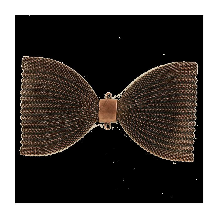 Pendentif résille noeud papillon 91mm cuivre x1
