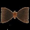 Pendentif résille noeud papillon 67mm cuivre x1
