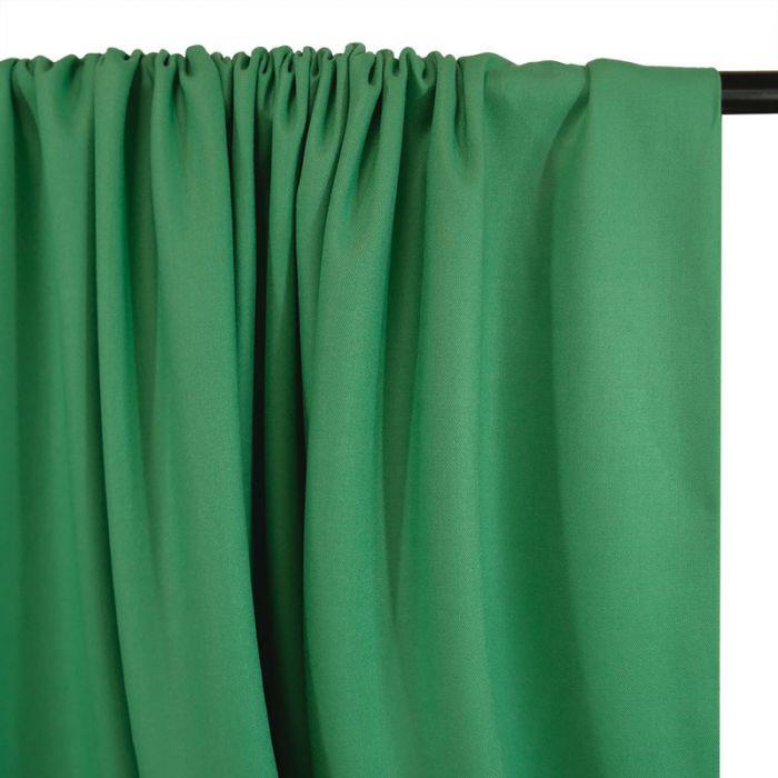 Tissu twill bambou polyester recyclé - émeraude x 10 cm