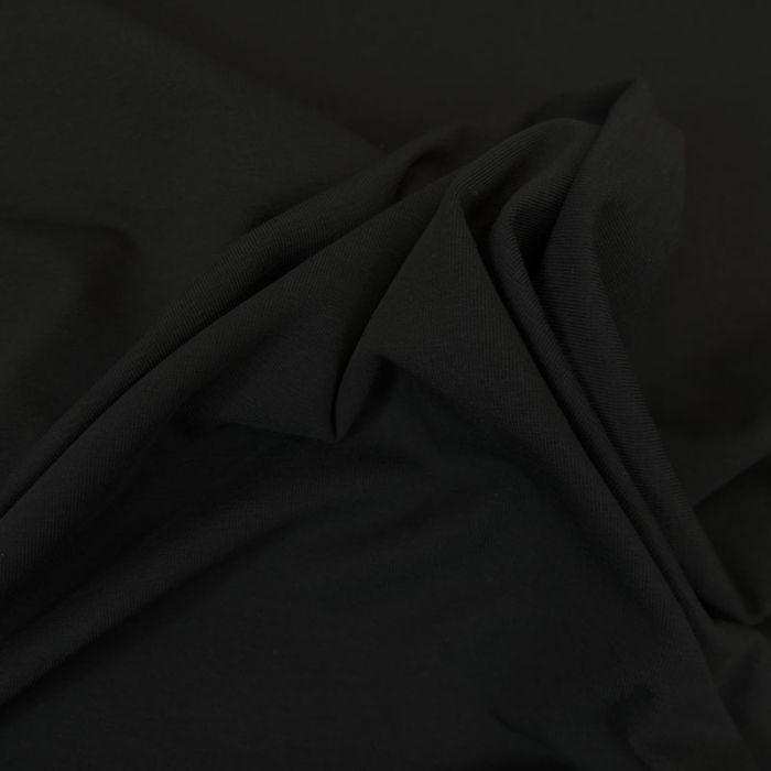 Tissu jersey coton bio uni - noir x 10cm