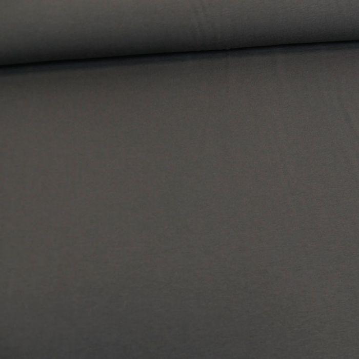 Tissu jersey coton bio uni - gris anthracite x 10cm