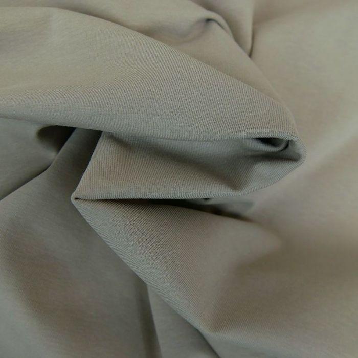 Tissu jersey coton bio uni - gris x 10cm