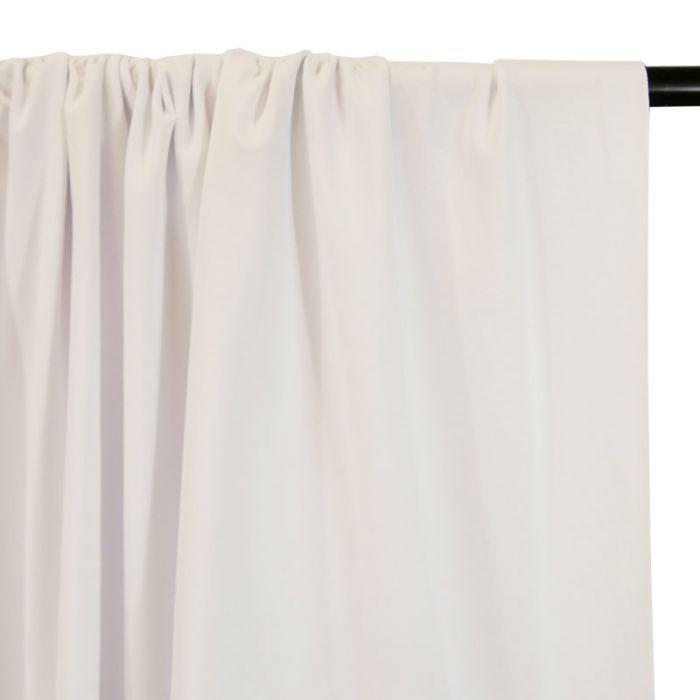 Tissu jersey coton bio uni - blanc x 10cm