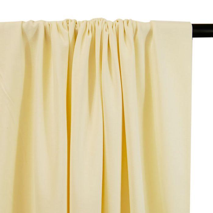 Tissu jersey coton bio uni - écru x 10cm