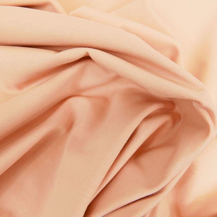 Tissu jersey coton bio uni - rose x 10cm