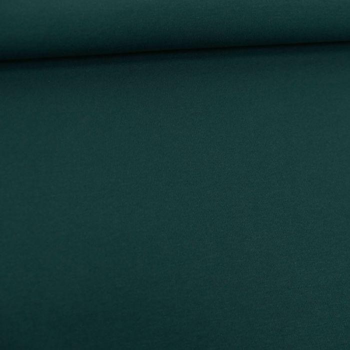 Tissu jersey coton bio uni - vert foncé x 10cm