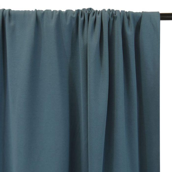 Tissu jersey coton bio uni - denim x 10cm
