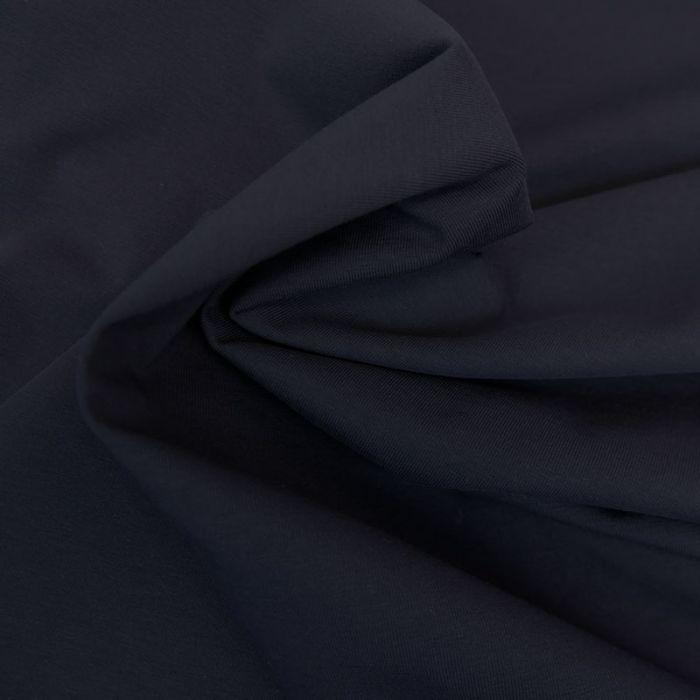 Tissu jersey coton bio uni - marine x 10cm