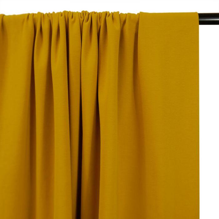 Tissu jersey coton bio uni - moutarde x 10cm