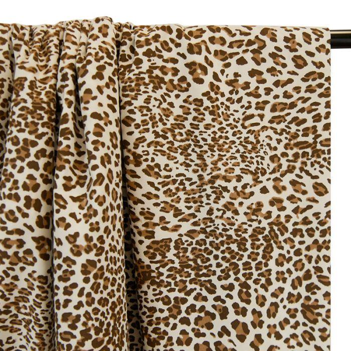 Tissu popeline coton imprimé léopard x 10 cm
