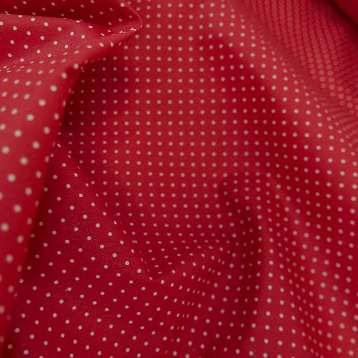 Tissu coton enduit dots - rouge x 10 cm
