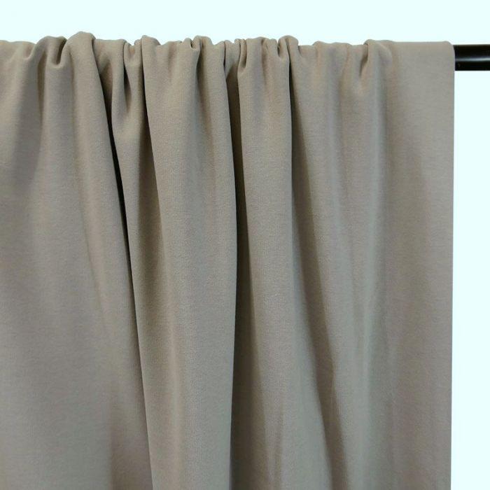 Tissu jersey sweat léger bio uni - gris clair x 10 cm