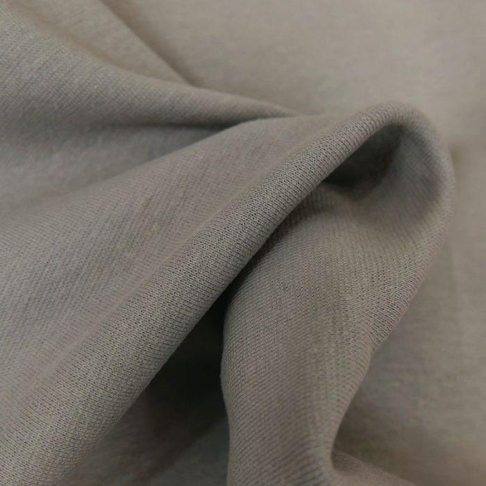 Tissu bord-côte bio uni tubulaire - gris x 10 cm