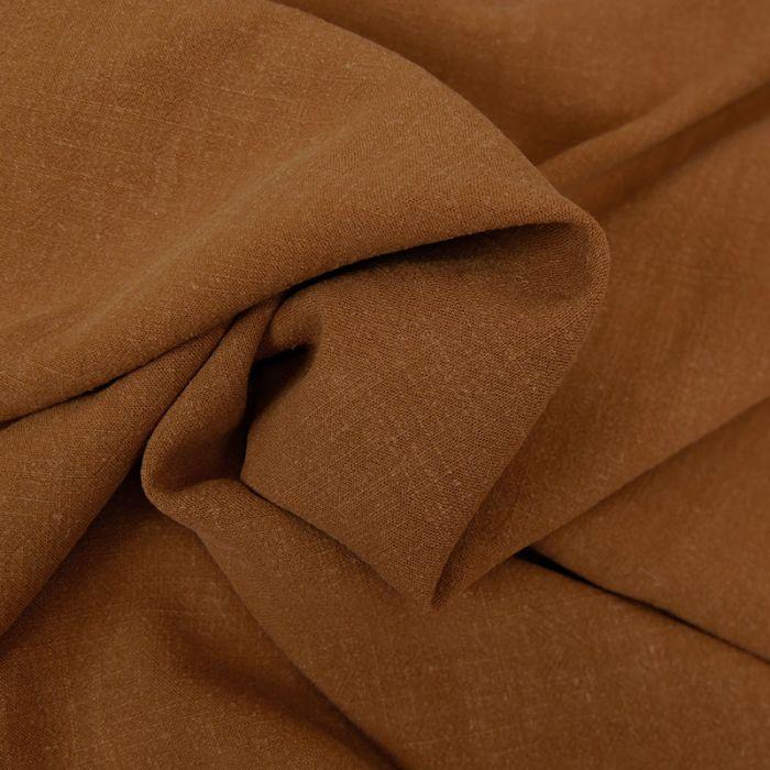 Tissu viscose lin - caramel x 10 cm