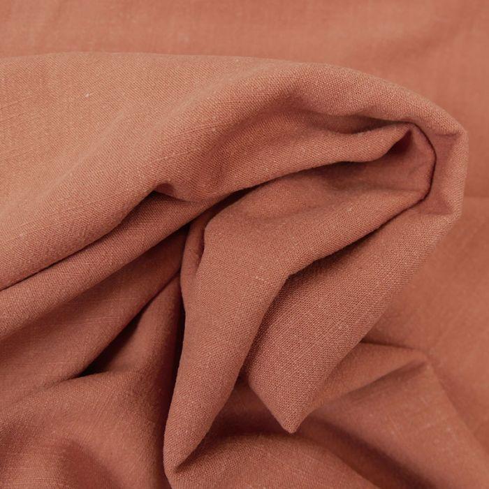 Tissu viscose lin - marsala x 10 cm