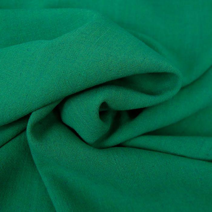 Tissu viscose lin - émeraude x 10 cm